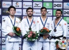 Vazha Margvelashvili (GEO), Norihito Isoda (JPN), Tal Flicker (ISR), Kamal Khan-Magomedov (RUS) - Grand Prix Düsseldorf (2017, GER) - © IJF Media Team, International Judo Federation