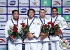 Momo Tamaoki (JPN), Sumiya Dorjsuren (MGL), Viola Waechter (GER), Jessica Klimkait (CAN) - Grand Prix Hohhot (2017, CHN) - © IJF Media Team, International Judo Federation