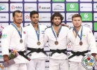 Sagi Muki (ISR), Dagvasuren Nyamsuren (MGL), Sharofiddin Boltaboev (UZB), Fagan Guluzada (AZE) - Grand Prix Tashkent (2017, UZB) - © IJF Media Team, International Judo Federation