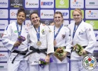 Fanny Estelle Posvite (FRA), Barbara Timo (POR), Anna Bernholm (SWE), Michaela Polleres (AUT) - Grand Prix Zagreb (2017, CRO) - © IJF Media Team, International Judo Federation