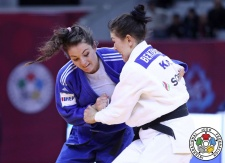 Zere Bektaskyzy (KAZ), Barbara Matić (CRO) - Grand Slam Baku (2017, AZE) - © IJF Media Team, International Judo Federation
