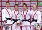 Stefannie Arissa Koyama (BRA), Milica Nikolic (SRB), Noa Minsker (ISR), Shira Rishony (ISR) - Grand Slam Baku (2017, AZE) - © IJF Media Team, International Judo Federation