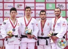 Tal Flicker (ISR), Tomofumi Takajo (JPN), Lasha Giunashvili (GEO), Baruch Shmailov (ISR) - Grand Slam Baku (2017, AZE) - © IJF Media Team, International Judo Federation