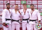Michael Korrel (NED), Elmar Gasimov (AZE), Miklós Cirjenics (HUN), Elkhan Mammadov (AZE) - Grand Slam Baku (2017, AZE) - © IJF Media Team, International Judo Federation