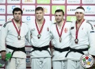 Miklós Cirjenics (HUN), Niyaz Ilyasov (RUS), Laurin Boehler (AUT), Varlam Liparteliani (GEO) - Grand Slam Ekaterinburg (2017, RUS) - © IJF Media Team, International Judo Federation