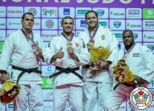 Guram Tushishvili (GEO), David Moura (BRA), Alex Garcia Mendoza (CUB), Rafael Silva (BRA) - IJF World Masters St. Petersburg (2017, RUS) - © IJF Media Team, International Judo Federation