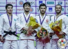 Kherlen Ganbold (MGL), Yeldos Zhumakanov (KAZ), Vazha Margvelashvili (GEO), Baruch Shmailov (ISR) - IJF World Masters St. Petersburg (2017, RUS) - © IJF Media Team, International Judo Federation