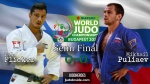 Tal Flicker (ISR), Mikhail Puliaev (RUS) - World Championships Budapest (2017, HUN) - © IJF Media Team, International Judo Federation