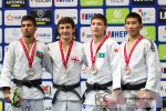 Jaba Papinashvili (GEO), Natig Gurbanli (AZE), Bauyrzhan Narbayev (KAZ), Unubold Lkhagvajamts (MGL) - World Championships Juniors Zagreb (2017, CRO) - © Klaus Müller, Watch: https://km-pics.de/