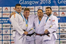 Jur Spijkers (NED), Irinel Chelaru (ESP), Renaud Carriere (FRA), Adam Hall (GBR) - European Open Glasgow (2018, SCO) - © Mike Varey - Elitepix, British Judo Association