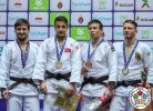 Bilal Ciloglu (TUR), Musa Mogushkov (RUS), Bekadil Shaimerdenov (KAZ), Anthony Zingg (GER) - Grand Prix Agadir (2018, MAR) - © IJF Media Team, International Judo Federation