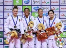 Rafaela Silva (BRA), Theresa Stoll (GER), Christa Deguchi (CAN), Hedvig Karakas (HUN) - Grand Prix Budapest (2018, HUN) - © IJF Media Team, International Judo Federation