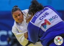 Maria Suelen Altheman (BRA), Idalys Ortiz (CUB) - Grand Prix Cancun (2018, MEX) - © IJF Media Team, International Judo Federation