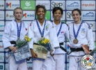 Jessica Klimkait (CAN), Rafaela Silva (BRA), Miryam Roper (PAN), Timna Nelson Levy (ISR) - Grand Prix Cancun (2018, MEX) - © IJF Media Team, International Judo Federation