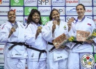 Idalys Ortiz (CUB), Maria Suelen Altheman (BRA), Ksenia Chibisova (RUS), Beatriz Souza (BRA) - Grand Prix Cancun (2018, MEX) - © IJF Media Team, International Judo Federation
