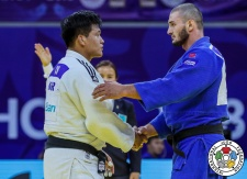 Gu-Ham Cho (KOR), Kazbek Zankishiev (RUS) - Grand Prix Hohhot (2018, CHN) - © IJF Media Team, International Judo Federation