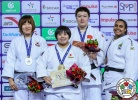 Akira Sone (JPN), Min-Jeong Kim (KOR), Maria Suelen Altheman (BRA), Yan Wang (CHN) - Grand Prix Hohhot (2018, CHN) - © IJF Media Team, International Judo Federation