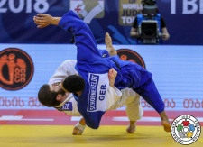 Onise Saneblidze (GEO), Domenik Schoenefeldt (GER) - Grand Prix Tbilisi (2018, GEO) - © IJF Media Team, International Judo Federation
