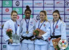Marie Eve Gahié (FRA), Kelita Zupancic (CAN), Carola Paissoni (ITA), Mariam Tchanturia (GEO) - Grand Prix Tbilisi (2018, GEO) - © IJF Media Team, International Judo Federation