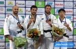 Vazha Margvelashvili (GEO), Baruch Shmailov (ISR), Kiyotaka Kido (JPN), Sebastian Seidl (GER) - Grand Prix The Hague (2018, NED) - © JudoInside.com, judo news, results and photos