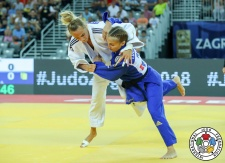 Irina Dolgova (RUS), Daria Bilodid (UKR) - Grand Prix Zagreb (2018, CRO) - © IJF Media Team, International Judo Federation