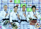 Jessica Klimkait (CAN), Christa Deguchi (CAN), Hedvig Karakas (HUN), Haruka Funakubo (JPN) - Grand Prix Zagreb (2018, CRO) - © IJF Media Team, International Judo Federation