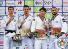 Georgii Zantaraia (UKR), Tal Flicker (ISR), Hifumi Abe (JPN), Baruch Shmailov (ISR) - Grand Prix Zagreb (2018, CRO) - © IJF Media Team, International Judo Federation