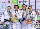 Tina Trstenjak (SLO), Nami Nabekura (JPN), Alexia Castilhos (BRA), Catherine Beauchemin-Pinard (CAN) - Grand Prix Zagreb (2018, CRO) - © IJF Media Team, International Judo Federation
