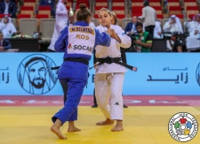 Odette Giuffrida (ITA), Majlinda Kelmendi (KOS) - Grand Slam Abu Dhabi (2018, UAE) - © IJF Media Team, International Judo Federation