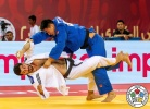 Mammadali Mehdiyev (AZE), Hebilige Bu (CHN) - Grand Slam Abu Dhabi (2018, UAE) - © IJF Media Team, International Judo Federation
