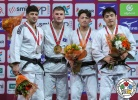 Akil Gjakova (KOS), Lasha Shavdatuashvili (GEO), Chang-Rim An (KOR), Tsogtbaatar Tsend-Ochir (MGL) - Grand Slam Paris (2018, FRA) - © IJF Media Team, International Judo Federation