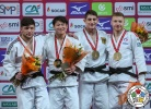 Shoichiro Mukai (JPN), Beka Gviniashvili (GEO), Eduard Trippel (GER), Axel Clerget (FRA) - Grand Slam Paris (2018, FRA) - © IJF Media Team, International Judo Federation