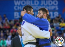 Saeid Mollaei (MGL), Anri Egutidze (POR) - World Championships Baku (2018, AZE) - © IJF Media Team, International Judo Federation
