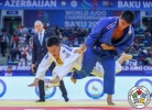 Uuganbaatar Otgonbaatar (MGL), Eduardo Yudy Santos (BRA) - World Championships Baku (2018, AZE) - © IJF Media Team, International Judo Federation