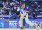 Marie Eve Gahié (FRA), Emily Burt (CAN) - World Championships Baku (2018, AZE) - © IJF Media Team, International Judo Federation