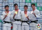Christian Parlati (ITA), Hiromasa Kasahara (JPN), Alexandre Arencibia (CAN), Luka Maisuradze (GEO) - World Championships Juniors Nassau (2018, BAH) - © IJF Media Team, International Judo Federation