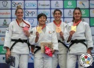 Rinoko Wada (JPN), Karla Prodan (CRO), Shelley Ludford (GBR), Patricia Sampaio (POR) - World Championships Juniors Nassau (2018, BAH) - © IJF Media Team, International Judo Federation