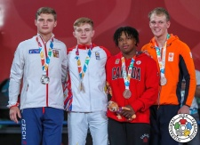 Adrian Sulca (ROU), Martin Bezdek (CZE), Mark van Dijk (NED), Keagan Young (CAN) - Youth Olympic Games Buenos Aires (2018, ARG) - © IJF Media Team, International Judo Federation