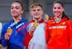 Irena Khubulova (RUS), Szofi Ozbas (HUN), Adrian Sulca (ROU) - Youth Olympic Games Buenos Aires (2018, ARG) - © IJF Media Team, International Judo Federation