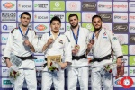 Chang-Rim An (KOR), Rustam Orujov (AZE), Guillaume Chaine (FRA), Georgios Azoidis (GRE) - Grand Prix Antalya (2019, TUR) - © Turkish Judo Federation