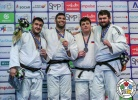 Or Sasson (ISR), Iakiv Khammo (UKR), Aliaksandr Vakhaviak (BLR), Anton Krivobokov (RUS) - Grand Prix Tel Aviv (2019, ISR) - © IJF Media Team, International Judo Federation