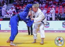 Luise Malzahn (GER), Klara Apotekar (SLO) - Grand Slam Abu Dhabi (2019, UAE) - © IJF Marina Mayorova, International Judo Federation