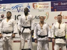 Messie Katanga (FRA), Rubens Colella (FRA), Stef Van Kampen (NED), Marc Deschenes (CAN) - International Belgian adidas Judo Open Visé (2019, BEL) - © JudoInside.com, judo news, results and photos