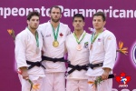 Antoine Valois-Fortier (CAN), Etienne Briand (CAN), Jack Hatton (USA), Eduardo Yudy Santos (BRA) - Pan American Championships Lima (2019, PER) - © Rafal Burza - Judo Canada