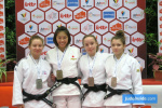 Aiko Watanabe (JPN), Eloise Picard (FRA), Lilah Lagarde (FRA), Jade Desbuis (FRA) - International Open Herstal Juniors (2020, BEL) - © JudoInside.com, judo news, results and photos