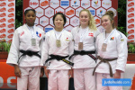 Mami Asahi (JPN), Kaila Issoufi (FRA), Isabella Lauritsen (DEN), Helena Didden (BEL) - International Open Herstal Juniors (2020, BEL) - © JudoInside.com, judo news, results and photos