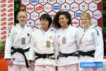 Mizuki Hasegawa (JPN), Coralie Godbout (CAN), Mayla Bertschy (FRA), Bente Egeter (NED) - International Open Herstal Juniors (2020, BEL) - © JudoInside.com, judo news, results and photos