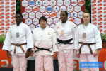 Ruri Takahashi (JPN), Coralie Hayme (FRA), Diana Saukel (NED) - International Open Herstal Juniors (2020, BEL) - © JudoInside.com, judo news, results and photos