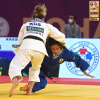 Distria Krasniqi (KOS), Funa Tonaki (JPN) - IJF World Masters Doha (2021, QAT) - © IJF Robin Willingham, International Judo Federation