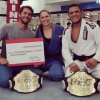 Flávio Canto (BRA), Ronda Rousey (USA), judoka in MMA and UFC (IJF) - © Facebook